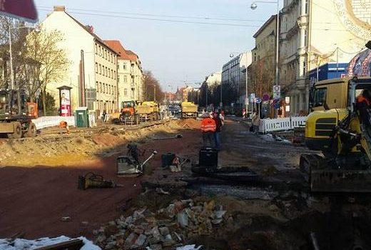Südring-Baustelle im Janaur 2017
